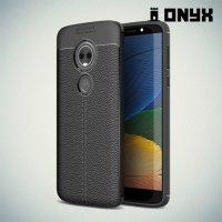 Силиконовый чехол под кожу для Motorola Moto E5 - Черный