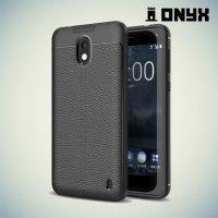Силиконовый чехол под кожу для Nokia 2 - Черный