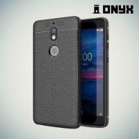 Силиконовый чехол под кожу для Nokia 7 - Черный