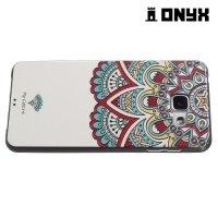 Силиконовый чехол объемный для Samsung Galaxy A5 2016 SM-A510F - с рисунком Красочный цветок