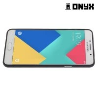 Силиконовый чехол объемный для Samsung Galaxy A5 2016 SM-A510F - с рисунком Цветные треугольники