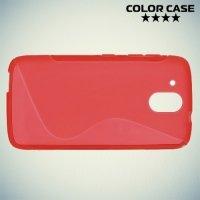 Силиконовый чехол для HTC Desire 526 и 526g+ dual sim - Красный