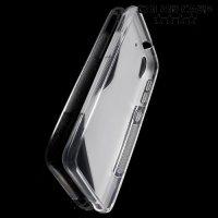 Силиконовый чехол для HTC Desire 626 / 628 - Прозрачный S-образный