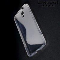 Силиконовый чехол для HTC One E9 Plus S-образный - Прозрачный
