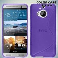 Силиконовый чехол для HTC One М9 Plus S-образный - Фиолетовый
