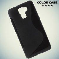 Силиконовый чехол для Huawei Honor 7 - Черный S-образный