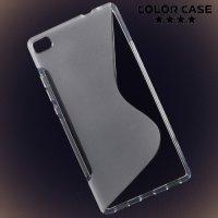 Силиконовый чехол для Huawei P8 - Прозрачный S-образный