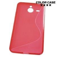 Силиконовый чехол для Microsoft Lumia 640 XL (3G, LTE, Dual Sim) - Красный