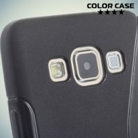 Силиконовый чехол для Samsung Galaxy A3 - черный S-образный