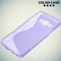 Силиконовый чехол для Samsung Galaxy A3 - фиолетовый S-образный