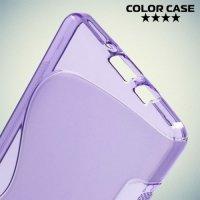 Силиконовый чехол для Samsung Galaxy A5 - фиолетовый S-образный