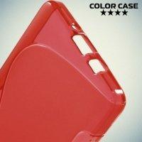 Силиконовый чехол для Samsung Galaxy A5 - красный S-образный