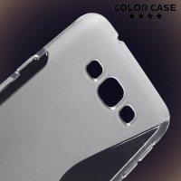Силиконовый чехол для Samsung Galaxy A8 - прозрачный S-образный