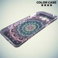 Силиконовый чехол для Samsung Galaxy A8 с рисунком Блестящий узор