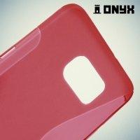 Силиконовый чехол для Samsung Galaxy S6 Edge+ ColorCase - Красный