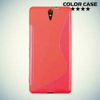 Силиконовый чехол для Sony Xperia C5 Ultra и C5 Ultra Dual - Красный