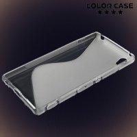 Силиконовый чехол для Sony Xperia Z3+ - прозрачный S-образный