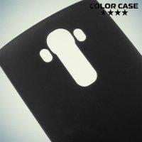 Силиконовый чехол накладка для LG G4 - черный