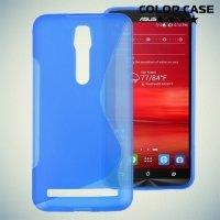 Силиконовый чехол для ASUS ZenFone 2 ZE550ML ZE551ML - Синий