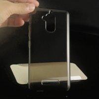 Силиконовый чехол для Asus ZenFone 3 Max ZC520TL - Полупрозрачный Черный