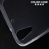 Тонкий силиконовый чехол для HTC Desire 728 и 728G Dual SIM  - Прозрачный
