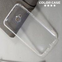 Силиконовый чехол для HTC U Play противоударный - Прозрачный