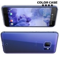 Тонкий силиконовый чехол для HTC U Ultra - Прозрачный