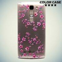 Тонкий силиконовый чехол для LG G4c H522y - с рисунком Сакура