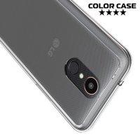Тонкий силиконовый чехол для LG K10 2017 M250 - Прозрачный
