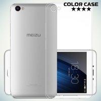 Тонкий силиконовый чехол для Meizu U10 - Прозрачный