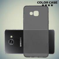 Тонкий силиконовый чехол для Samsung Galaxy A5 2016 SM-A510F - Полупрозрачный черный