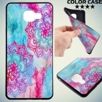 Тонкий силиконовый чехол для Samsung Galaxy A5 2016 SM-A510F - с рисунком Яркие узоры