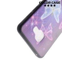 Тонкий силиконовый чехол для Samsung Galaxy A5 2016 SM-A510F - с рисунком Бабочка
