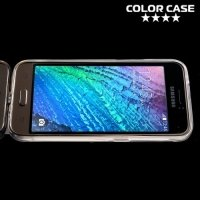 Тонкий силиконовый чехол для Samsung Galaxy J1 2016 SM-J120F - Прозрачный