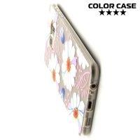Тонкий силиконовый чехол для Samsung Galaxy S6 Edge Plus - с рисунком Ромашка
