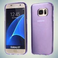 Тонкий силиконовый чехол для Samsung Galaxy S7 - Фиолетовый