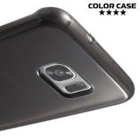 Тонкий силиконовый чехол для Samsung Galaxy S7 Edge - Серый