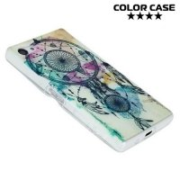 Тонкий силиконовый чехол для Sony Xperia Z5 Compact E5823 - с рисунком Ловец снов