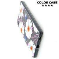 Тонкий силиконовый чехол для Sony Xperia Z5 - с рисунком Ромашка