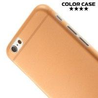 Ультратонкий кейс чехол для iPhone 6S / 6-Оранжевый