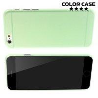 Ультратонкий кейс чехол для iPhone 6S / 6-Зеленый