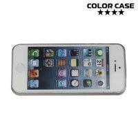 Ультратонкий 0.3 мм кейс чехол для iPhone SE - Серый