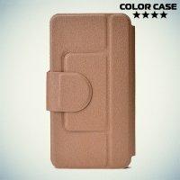 Чехол книжка для телефона 4.5-4.8 дюйма универсальный - черный