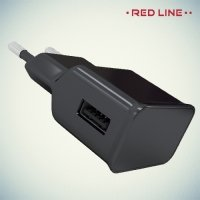 Универсальная зарядка 1А USB Red Line черная