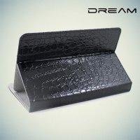 Универсальный чехол для планшета 7 дюймов Dream - крокодил черный книжка