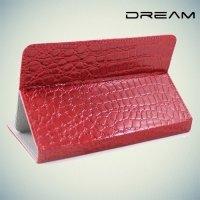 Универсальный чехол для планшета 7 дюймов Dream - крокодил красный книжка