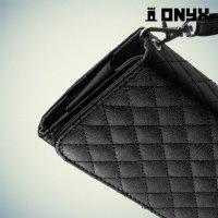 Универсальный чехол футляр сумочка для телефона Ромбус - черный