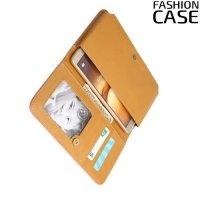 Универсальный чехол кошелек сумочка для телефона 6 дюймов - розовый