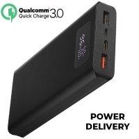 Внешний аккумулятор Qumo PowerAid T20000 mAh 3 USB с быстрой зарядкой QC / PD