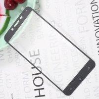 Закаленное защитное стекло для Asus ZenFone 3 Zoom ZE553KL на весь экран - Черный